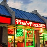 exterior of Pino's Pizza store in Ocean City Maryland